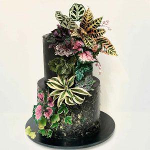 Bolo decoração folhas